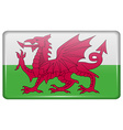 Flags Wales in the form of a magnet on vector image