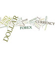 forex currency pairs text background word cloud vector image vector image