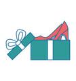 giftbox with elegant heel female icon vector image