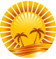 gold sun vector image vector image