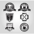 Gym emblems vector image