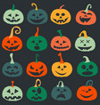 halloween pumpkin icons postcard pattern vector image