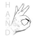 hand ok sign isolated vector image
