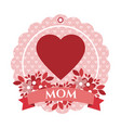 happy mothers day tag vector image vector image