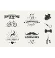 Hipster emblems labels badges vector image vector image