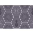 Honeycomb floor tile seamless pattern vector image vector image
