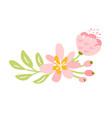 isolated flat flower on white background vector image vector image