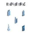 isometric construction set of urban residential vector image vector image
