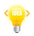 Light bulb idea concept template vector image
