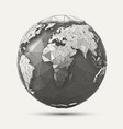 line poly earth vector image vector image
