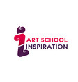 logo for art school vector image