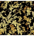 Luxury vintage golden seamless background vector image vector image