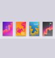 minimal covers design wavy color gradients vector image