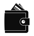 money wallet icon simple style vector image