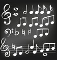 music note icon hand drawn vector image vector image
