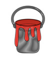paint bucket isolated vector image vector image
