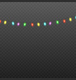 rainbow garland light blurred effect 3d realistic vector image vector image