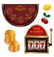 realistic casino online games set vector image