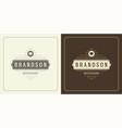 restaurant logo design chef vector image vector image