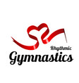 ribbon for rhythmic gymnastics in shape a vector image