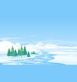 river ice melting spring landscape vector image vector image