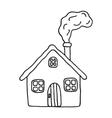 Santa Claus cartoon house doodle vector image