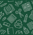 school supplies seamless pattern with line icons vector image vector image