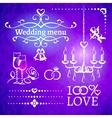 Set of wedding design elements vector image vector image