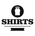 shirt logo simple black style vector image vector image