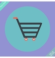Shopping cart sign - vector image vector image