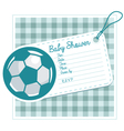 Soccer Baby Shower Invite Card vector image vector image