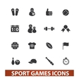 sport games icons set vector image vector image