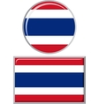 Thailand round and square icon flag vector image vector image