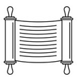 torah scroll icon outline style vector image vector image