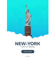 usa new-york time to travel travel poster vector image vector image
