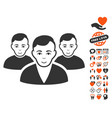 user group icon with dating bonus vector image vector image