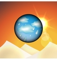 Weather changing vector image