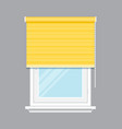 window with yellow jalousie isolated vector image vector image