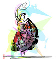 woman dancing marinera vector image vector image