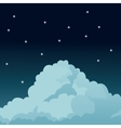 night sky stars cloud vector image
