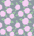 Pink Roses seamless patern Flowers in pastel vector image