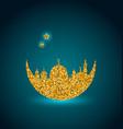 ramadan celebration background holy month mosque vector image