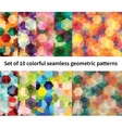 Set of 10 polygon patterns vector image