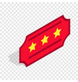 red ticket isometric icon vector image