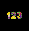 123 concept word art vector image