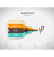 4p strategy business concept marketing infographic vector image vector image