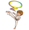 A martial arts expert with an empty callout vector image vector image