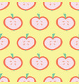 apple slice pattern seamless background vector image