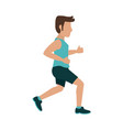 avatar running icon image vector image vector image
