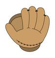 baseball glove design vector image vector image